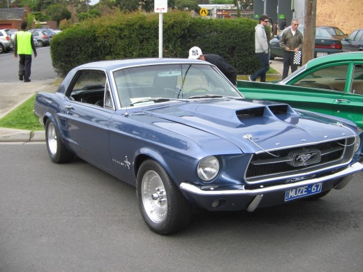 Well there was some cars there , I really liked this Mustang