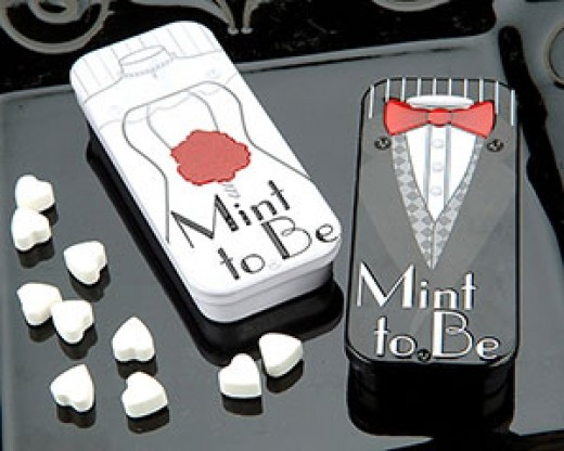 Breath mint shower favors