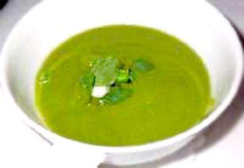 Le Cirque Spring Pea Soup - Mga pataning pinaikot at pinalamutak sa blender para maging soup. A.k.a. Etchas ng baby P1,176 isang bowl?