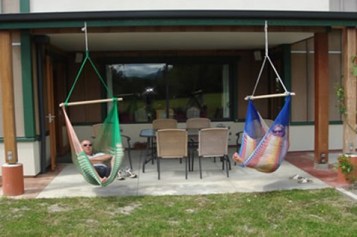 Chair Hammocks from beam