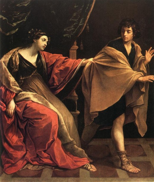 """""""Joseph and Potiphar's Wife"""" by Guido Reni 1631 (Pushkin Museum, Moscow)"""