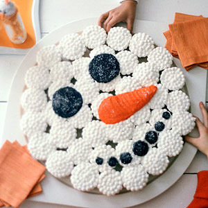 Turn your Cupcakes into a Snowman Cake