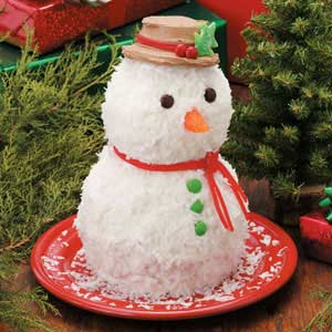 Cute Snowman Cake from Taste of Home