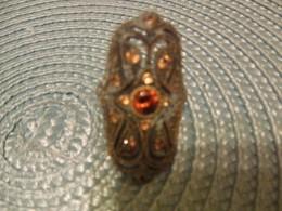 Citrine/Orange Sapphire?  Silver Ring Find