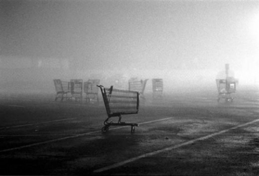 Carts are often left in the weather to fend for themselves.
