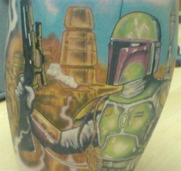 Boba Fett (by Fenton Gilbert, Underground Ink, Thunder Bay)