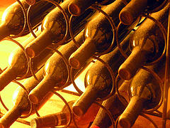wine bottles, by misswired