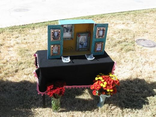 El Día de los Muertos family shrine