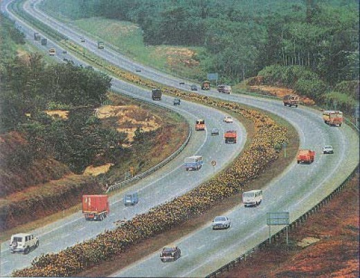 A view of Mumbai -Pune highway