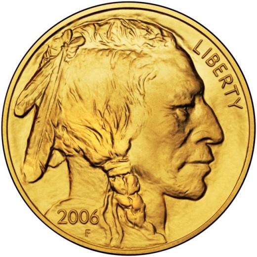 American Gold Buffalo Coin Obverse