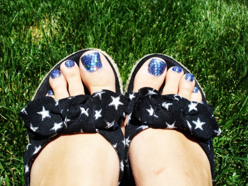 Glitter Toes Utah Glitter Toe or Rock Star Toe