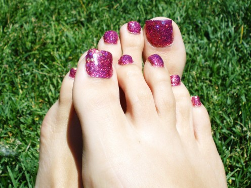 Glitter Toes How to do Glitter Toe or Rock Star Toe