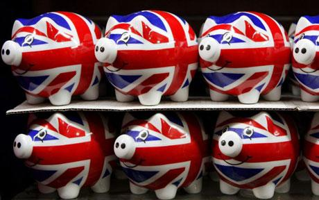 True Brit Piggy Banks!