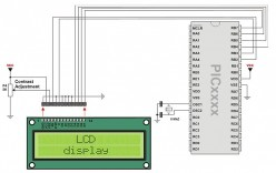 How to write text to an LCD using a pic chip with mikroc