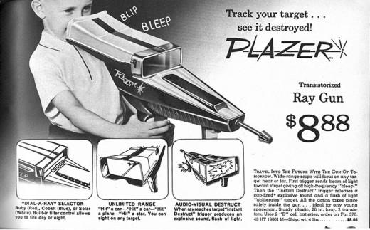 Vintage toy ray gun ad