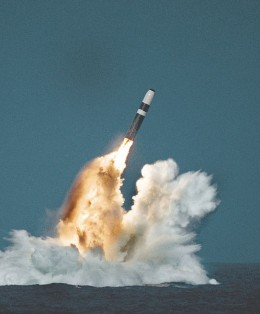 Trident powered by Thiokol fuel. Photo credit WikiCommons