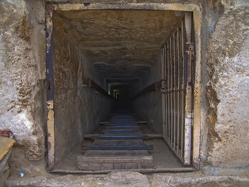 Entrance to Catacombs in Egypt
