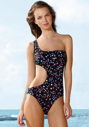 A modest version of the monokini.