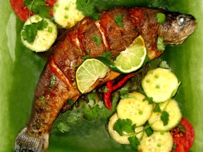 A grilled whole fish with slices across the fish is a wonderful way to grill fish. Fish cooked this way is so delicious.