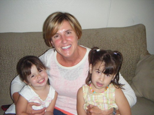 With my granddaughers!