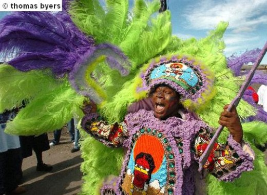 Very Colorful Mardi Gras Costume