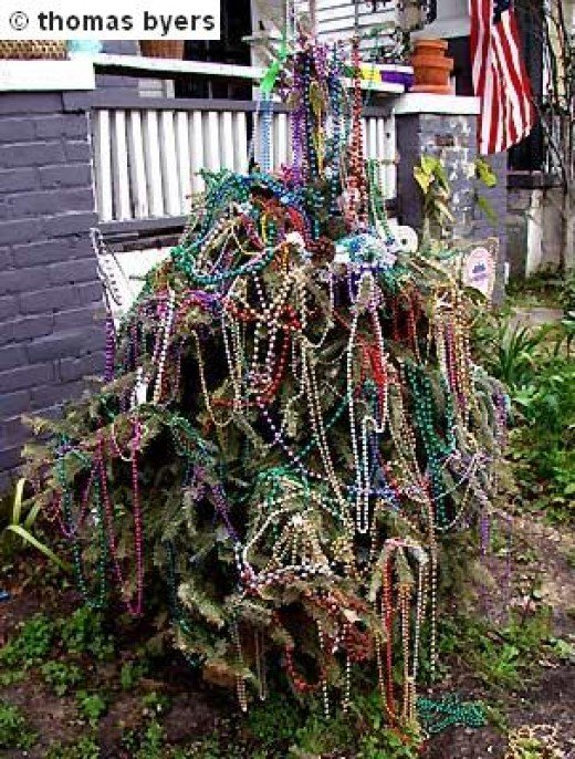 Mardi Gras Bead Tree , We Saw Many Of These