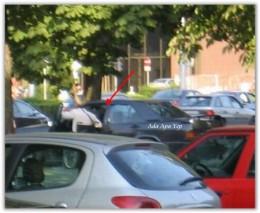 he open his car (Mercedes Benz)