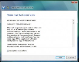 License Agreement Windows Vista Service Pack 1
