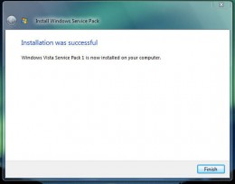 Installation Complete Service Pack 1