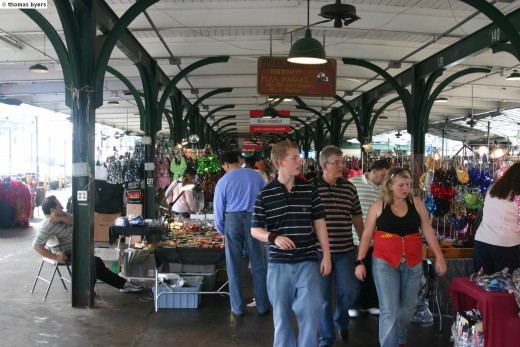 The New Orleans Flea Market In The French Quarter