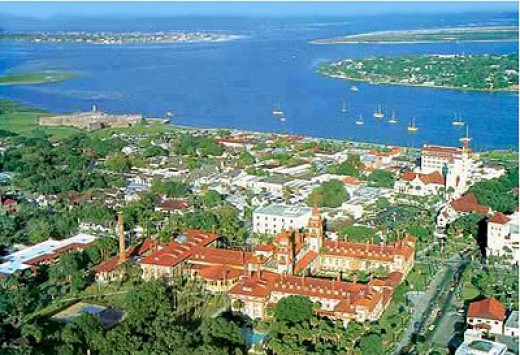 St Augustine Florida From The Air