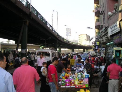 Cairo street market.  Photo by Glendon Caballero