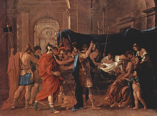 The death of Germanicus, by Nicholas Poussin.