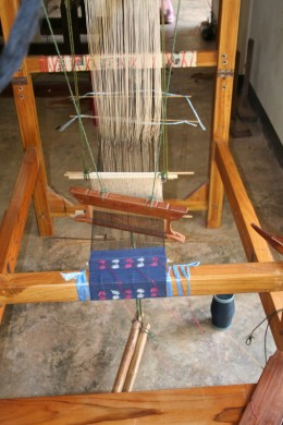 """My"" loom ready for weaving"