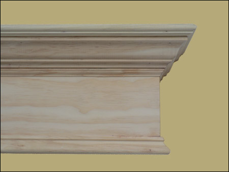 Close up of wood cornice