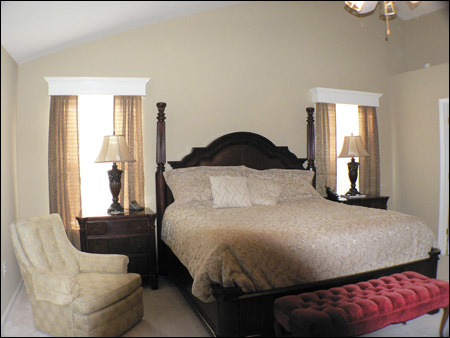 Wood Cornice in bedroom