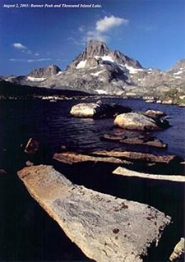 Banner Peak behind Thousand Island Lake.
