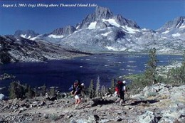 08/03/01: Hitting the trail from T.I.L toward Donahue Pass