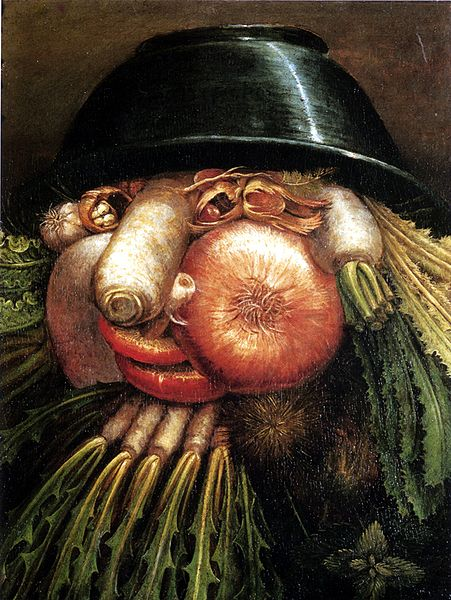 Portrait with Vegetables, The Greengrocer, by Giuseppe Arcimboldo.