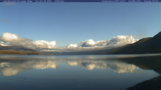 Lake McDonald web cam shot