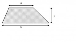 How to find the area of trapezium.