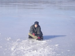 Ice Fishing on Newfound Lake