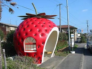 The strawberry in China