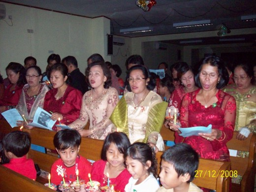 Ambon Women Choir on Christmas celebration