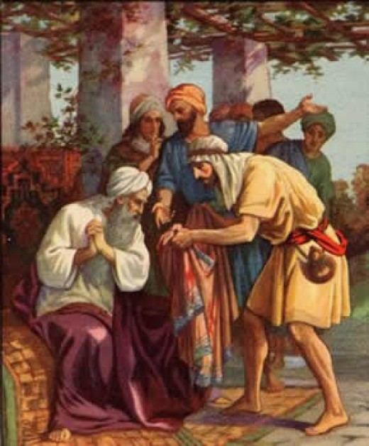 When Jacob receives the coat of Joseph he rents it into pieces.  This is significant to the scattering of his posterity that will occur and the gathering that will take place in the Latter Days.