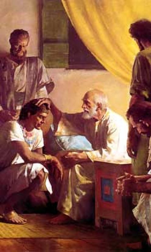 Jacob blesses his twelve sons.