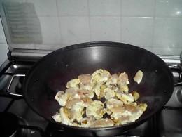 Cooking chicken in my wok