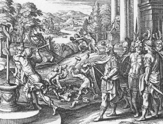 Hezekiah orders the destruction of idols.