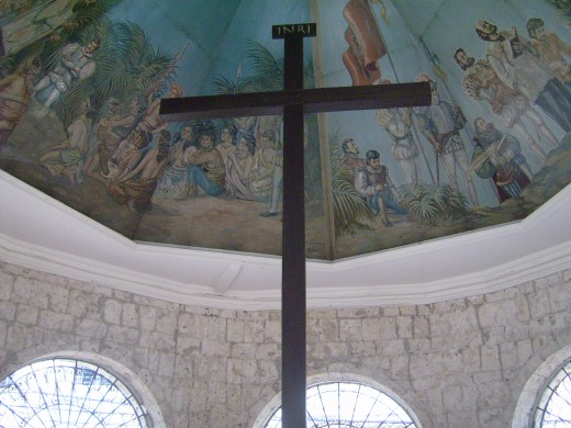 Inside Magellan's Cross Chapel