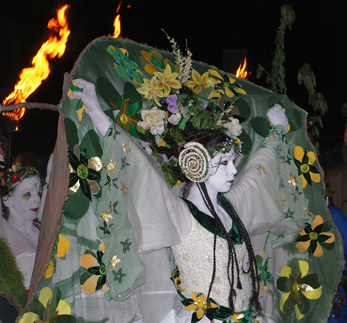 May Queen at Beltane on Carlton Hill, Edinburgh     *Debs* @ flickr